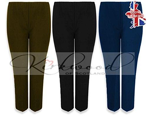 ladies-nurse-work-carer-keep-fit-stretch-pull-on-ribbed-elasticated-bootleg-trousers-8-26-16-regular