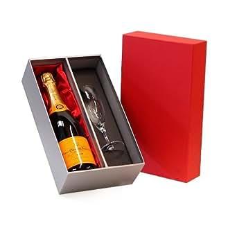 Veuve Clicquot Champagne 750ml & Sensation Flute di lusso confezione regalo rosso e argento- Idee regalo per-Natale, compleanno, matrimonio, anniversario, impegno, San Valentino, Pensionamento, lui, lei, Grazie, Fathers Day, Mothers Day, 18 °, 21 ° , 30, 40 °, 50 °, 60 °, 70 °, 80 °, 90 °, 100 °