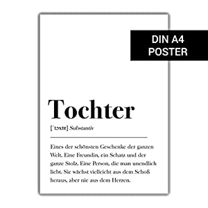 DIN A4 Poster: Tochter Definition Plakat