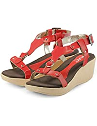 Nell Women Red  Solid Wedges