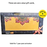 Anytime Gifts - Pack of 5 envelopes (Zero value Gift cards)