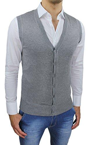 purchase cheap 8dfa0 73484 AK collezioni Gilet smanicato uomo grigio slim fit casual ...