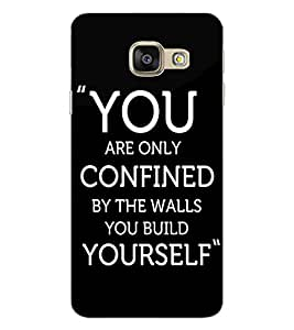 ColourCraft Quote Design Back Case Cover for SAMSUNG GALAXY A9 PRO (2016)