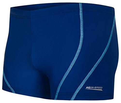 AQUA-SPEED® Herren Badehose | Schwimmhose | S-XXXL | Modern | Perfect Fit | UV-Schutz | Chlor resistent | Kordelzug 15. Blue