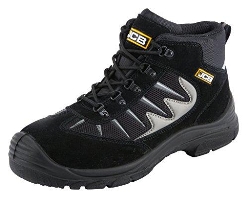 JCB 2Cx/B travail Bottes de sécurité Noir ou Gris (Tailles 7-12) Chaussures de randonnée Style Noir