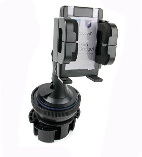 DURAGADGET Soporte De Coche para Smatphone Hisense C30 Rock Lite/Onix S405 / Onix S551 / Oukitel K3 / SORAKA Z8 / VKWorld Mix Plus + Base para Posavasos + Soporte con Ventosa