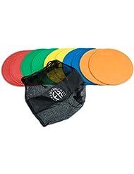 FH Lot de 10 balises adhérentes en forme de disque