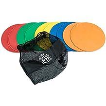 FH Pro Discos marcadores, redondos y planos, antideslizantes, juego de 10 unidades,