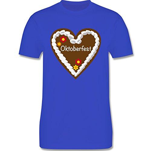 Oktoberfest Herren - Lebkuchenherz Oktoberfest - Herren Premium T-Shirt Royalblau