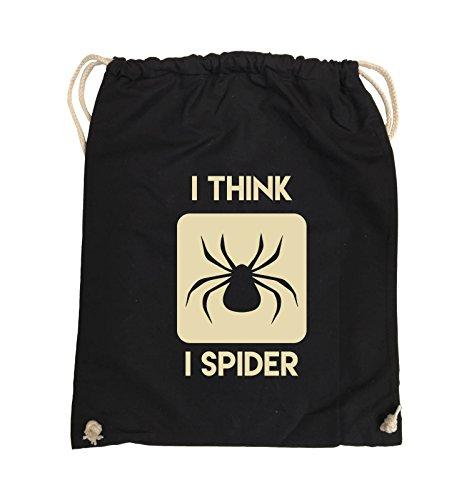 Borse Comiche - Penso Che Io Spider - Turn Bag - 37x46cm - Colore: Nero / Argento Nero / Beige