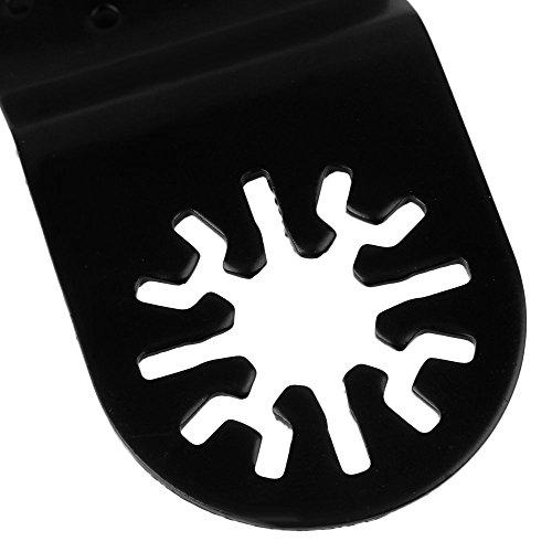 cnbtr schwarz 65x 40mm Carbon Stahl Sägeblätter Pendelndes Multitool feine Zahnung Universal Sägeblätter Set von 5