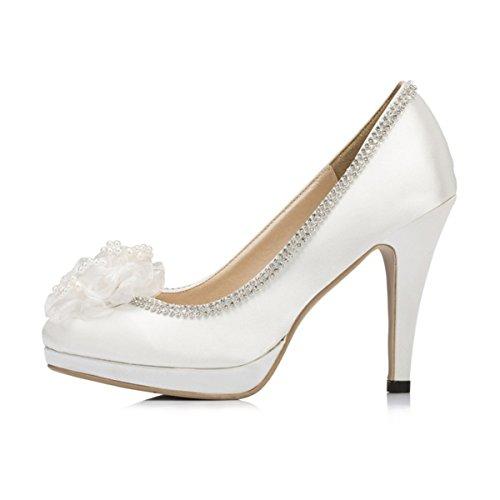 Kevin Fashion , Chaussures de mariage tendance femme Blanc - blanc