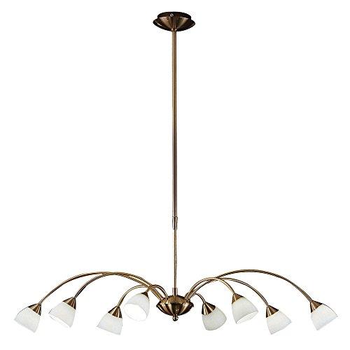 Decken Lampe Wohn Ess Zimmer Beleuchtung Hänge Leuchte Glas Lüster Gold Kron Leuchter Eglo 26064