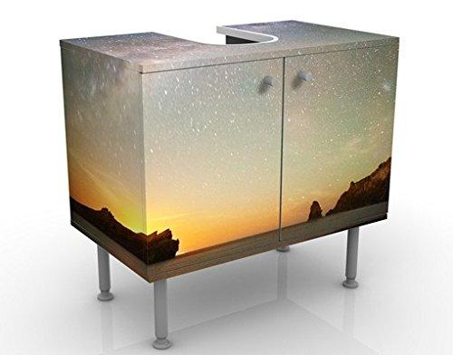 Apalis 54048 Waschbeckenunterschrank Sternenhimmel über dem Meer, 60 x 55 x 35 cm