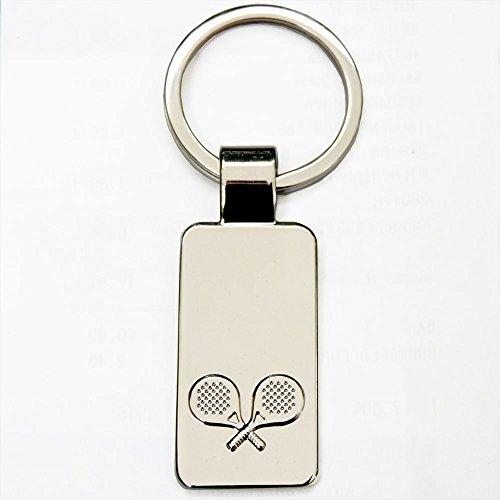 Schlüsselanhänger Tischtennis mit Gravur: Vorname/Name auf der Vorderseite