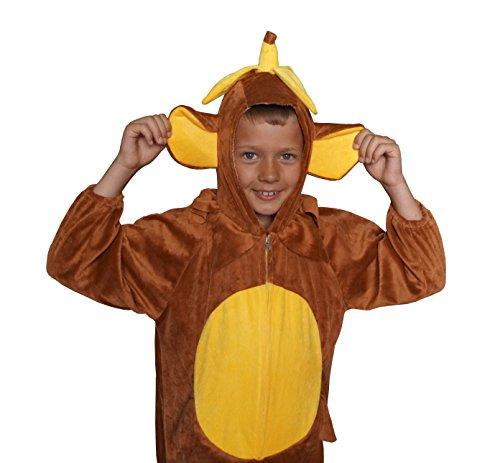 Affe Schimpanse Karneval Kostüm Kinder Fasching extrem weich Gr. 128