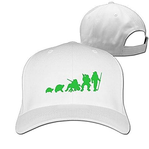 Fitty area Fashion Evolution Of Turtles Baseball Cap - Adjustable Hat - Black White