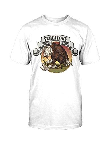 Terrority T-Shirt Neu Fun Eagle Adler Terror Krieg Vintage Satire Funshirt Kult Weiß