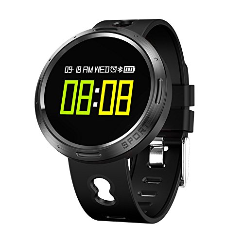 Smart Armband Blutdruck Pulsmesser Fitness Tracker Schlaf Monitor Schrittzähler IP68 Wasserdicht Uhren Für Iphone Android,OOLIFENG,Black (Schwarze Tür-monitor-sensor)