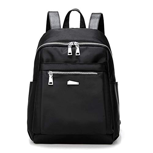 Beauty Case da Viaggio BorsaStudente di stoffa di nylon casual moda selvaggio pratico zaino grande capacità nero grande