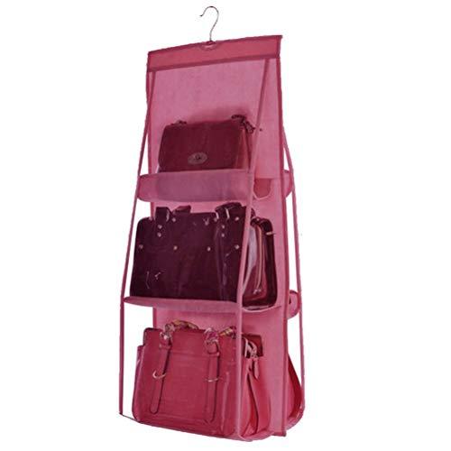 Ysoom Handtaschen Ablage - Speicher Handtasche Organiser Closet Kleiderschrank klar Geldbörse Toys Schuhe Tuch Taschen hängende Aufbewahrung für Wohnzimmer Schlafzimmer Schrank
