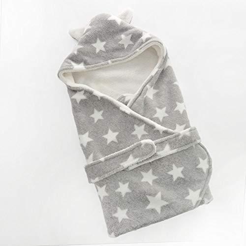 Urijk Baby Schlafsäcke Babydecke Kapuzenhandtuch Babyhandtuch mit Kapuze Verdickung Neugeborenes Mädchen Jungen Schlafen Wrap Decke Einschlagdecke Badetuch