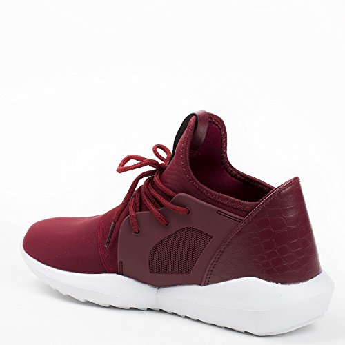 Ideal Shoes ,  Sneaker donna Rosso