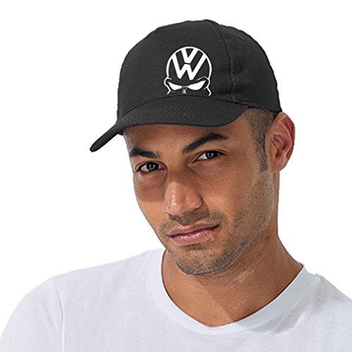 Fun Cap Baseball Cap VW Cap Totenkopf Cappi weiß