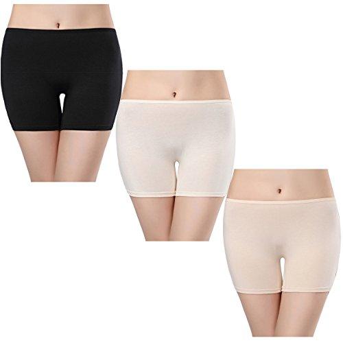wirarpa Panty Coton Cycliste Short Femme Long Culottes Boxer Shorty Legging Boxer Caleçon Grande Lot de 3 Taille 38-58