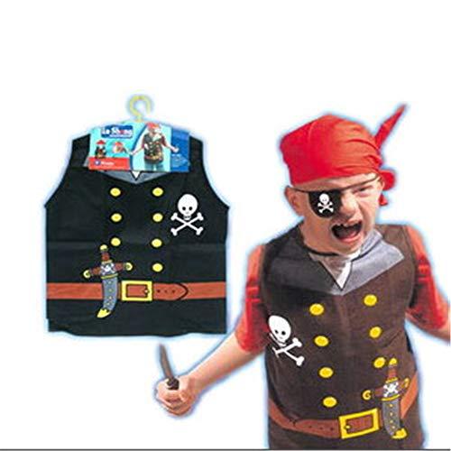 KAKAFASHION Maskerade Halloween Jungen und Mädchen Fit Cosplay Feuerwehrmann Polizei Ingenieur Chef Kostüm (geeignet für 6-8 Jahre alte Kleidung Länge 55 cm Breite 44 cm)