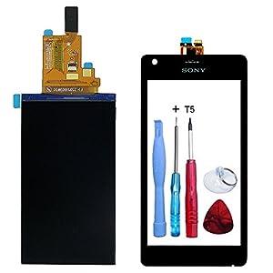 Display LCD-Display + Touchscreen, schwarz Sony Xperia M (C1904/C1905) + Doppelseitiges Klebeband + Werkzeug-Fassade Farbe schwarz