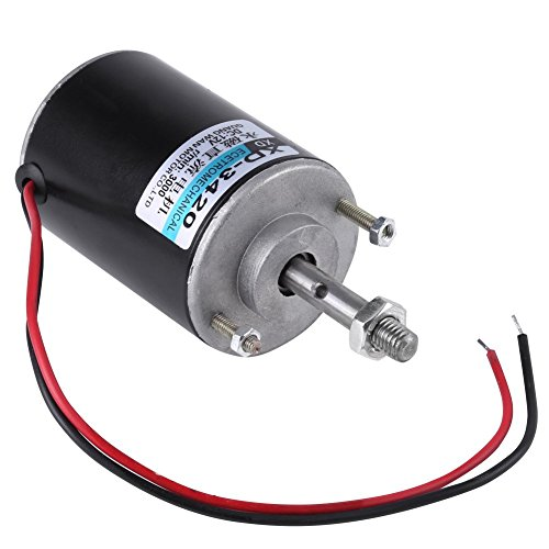Mini 12V/24V CW/CCW Permanent Magnet DC Motor Reversible Electric Gear  Motor High Speed Low Noise for DIY Generator(DC 12V 3000RPM)