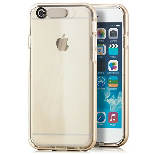 Original Rock Silikon Schutzhülle Apple iPhone 6 / 6S Premium Slim Case Hülle Dunkelblau Gold