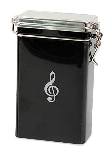 Kaffeedose Violinschlüssel / Notenschlüssel aus Metall - Schönes Geschenk für Musiker