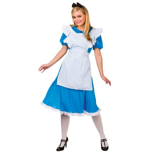 Storybook Alice Costume Woman Fancy Dress Small (Last Minute Fancy Dress Kostüm)