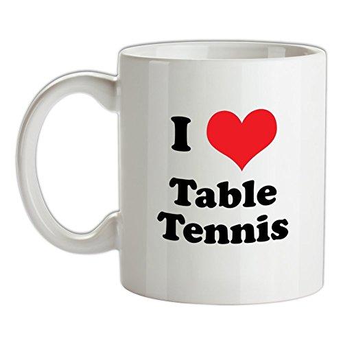 I Love Table Tennis - Bedruckte Kaffee- und (Team Wettbewerb Kostüm)