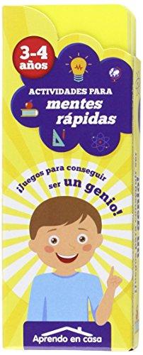 APRENDO EN CASA MENTES RÁPIDAS: Actividades para mentes rápidas. 3 - 4 años: 1 por PATIMPATAM