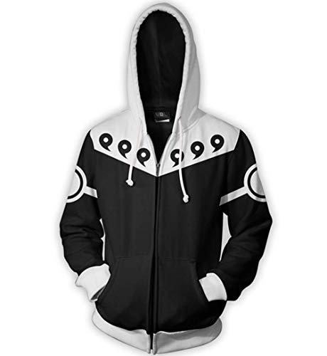 qingning Ninja Pullover Übergröße Kakash 3D Drucken Sweatshirt Cosplay Hoodie Shirt Chrismas Weihnachten ()