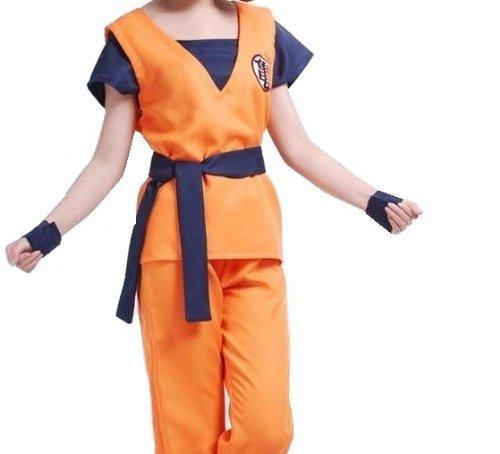 FineBlue FB-Goku estilo peluca cosplay ropa de artes marciales con el