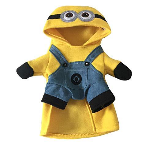 Wilk Pet Supplies Living Petits vêtements pour Chien Chat Animaux Petite Boutique Jaune Personnes Petits Animaux Costume Teddy vêtements pour Chiens