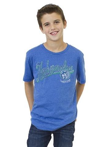 NBA Minnesota Timberwolves Youth Vintage Heather Short Sleeve Crew T-Shirt, Liberty, X-Small