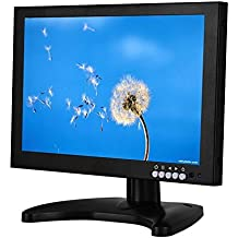 Eyoyo 10 pulgadas IPS LED FULL HD Monitor con HDMI / BNC / VGA / USB Función y altavoz (1920x1200)