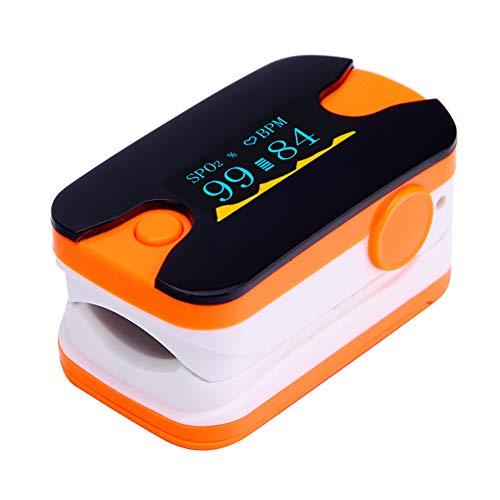 SUN RNPP Blutzuckermessgeräte Oximeter fingerspitzen-digital-oxihemograph Portable Wireless mit led-Bildschirm hohe genaue messung wasserdicht,Orange
