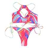 Luckycat Bikini brasileño descarado Lado Inferior Corbata Tanga baño bañador