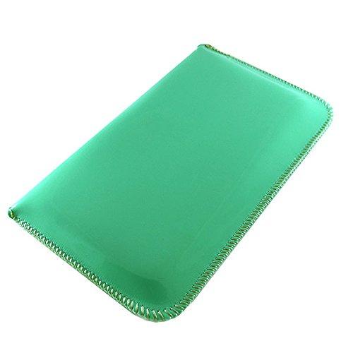 Tasche für APPLE IPHONE 3G, 3GS - BLACKBERRY BOLD 9650, 9900, TOUCH 9930, STORM, 9500 - HUAWEI ASCEND Y200, Y201 PRO, Y210D - LG CONNECT 4G MS840, GW300, GW620, OPTIMUS F3, HUB E510, L5, ME - MOBISTEL MINT-GRÜN