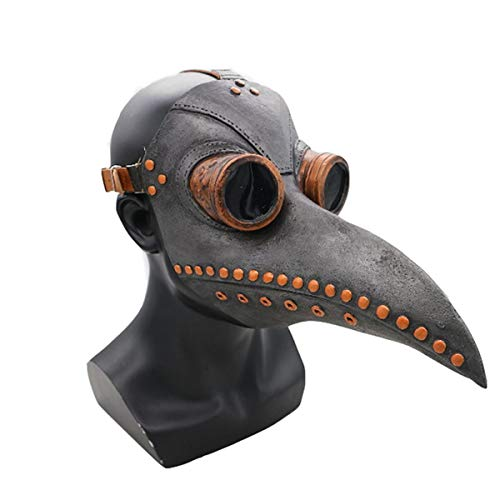 Assassins Machen Creed Kostüm - Lixinfushi Pest Doktor Steampunk Vogel Cosplay Maske Halloween Maskerade Kostüm Latex Requisiten Masken Erwachsene