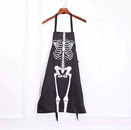 ance Party Horror Dress Up Apron Halloween Kostüm Skeleton-Kostüm Apron Erwachsene ()