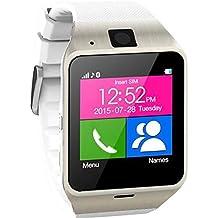 Smartwatch, S GV18inteligente Bluetooth 3.0NFC impermeable reloj teléfono cámara TF tarjeta Reloj de pulsera para Smartphones IOS Android Apple iPhone 5/5C/5S/6/6Plus Android Samsung S3/S4/S5/S6/S6Edge Nota 2