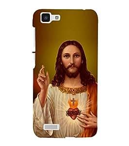 Fuson Designer Phone Back Case Cover Vivo Y27 :: VivoY27L ( The Heart Of Jesus )