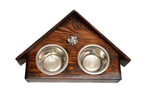 Artikelbild: Amerikanische Bulldogge, Eine Hundeschale mit einem Relief von ArtDog